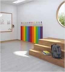 Pencil acoustic wall tile kit