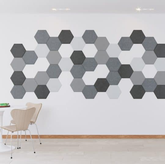 Honey Acoustic Hexagon Wall Tiles