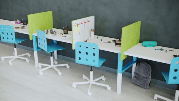 Green Slide on desk dividers
