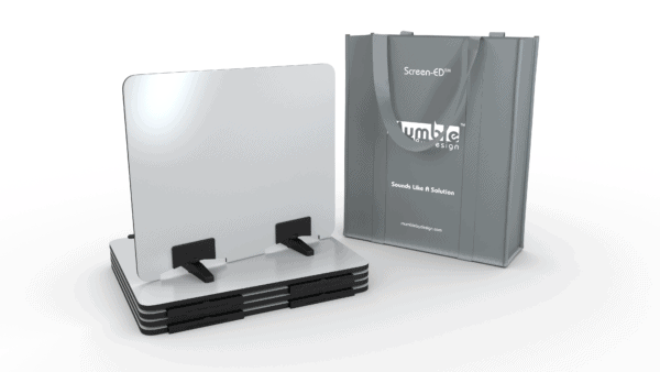 Mumble® Screen- ED® ( pack of 5) WRITE - whiteboard desk dividers