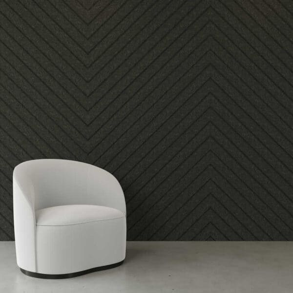 Diagonal grooved acoustic panel