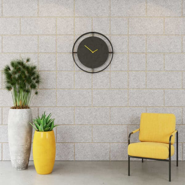 outline acoustic wall panels in yellow
