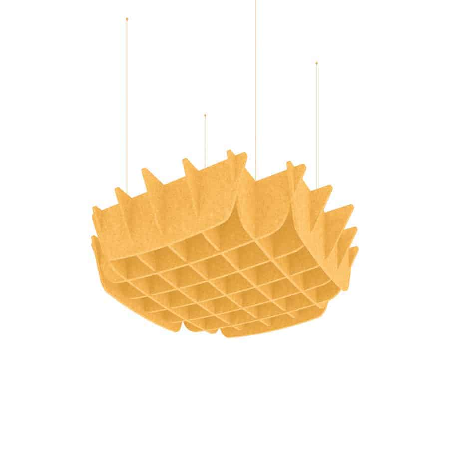Vortex Acoustic Ceiling in yellow