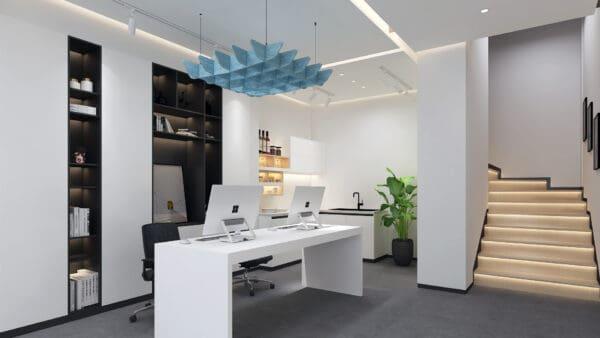 Quad acoustic ceiling hanging